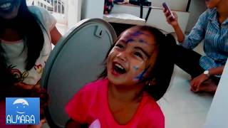 Baby Cute Making His Funny Face With Face Deco Painting