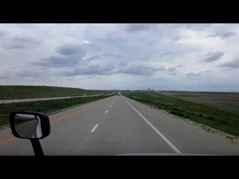 BigRigTravels LIVE! Interstate 70 Westbound west of Hays, Kansas