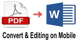 Pdf to Word Convert and Edit on Mobile | Tech Tips in Tamil |
