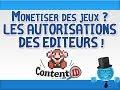 Monétisation des jeux vidéo - Liste des autorisations Éditeurs | Youtube News