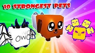 TOP 10 RAREST & STRONGEST PETS, die Sie eigene IT In BUBBLE GUM SIMULATOR wollen!! (Roblox)