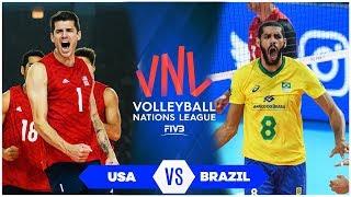 USA vs Brazil | Semifinal | Highlights | Men's VNL 2019 (HD)