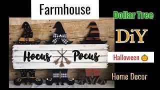 Dollar Tree DIY | Farmhouse Hocus Pocus Sign