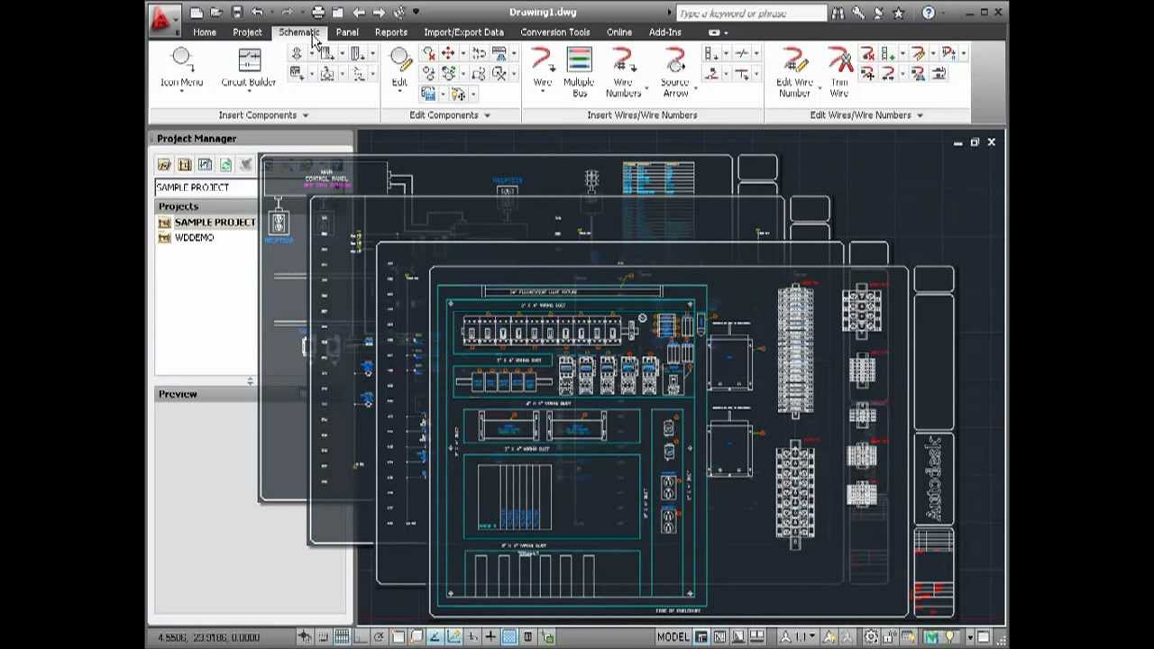 medium resolution of electrical wiring diagram using autocad