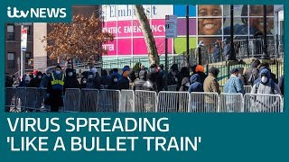 Warning that COVID-19 is spreading through New York 'like a bullet train' | ITV News