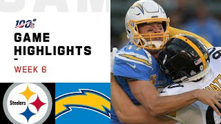 Steelers vs. Chargers Week 6 Highlights | NFL 2019