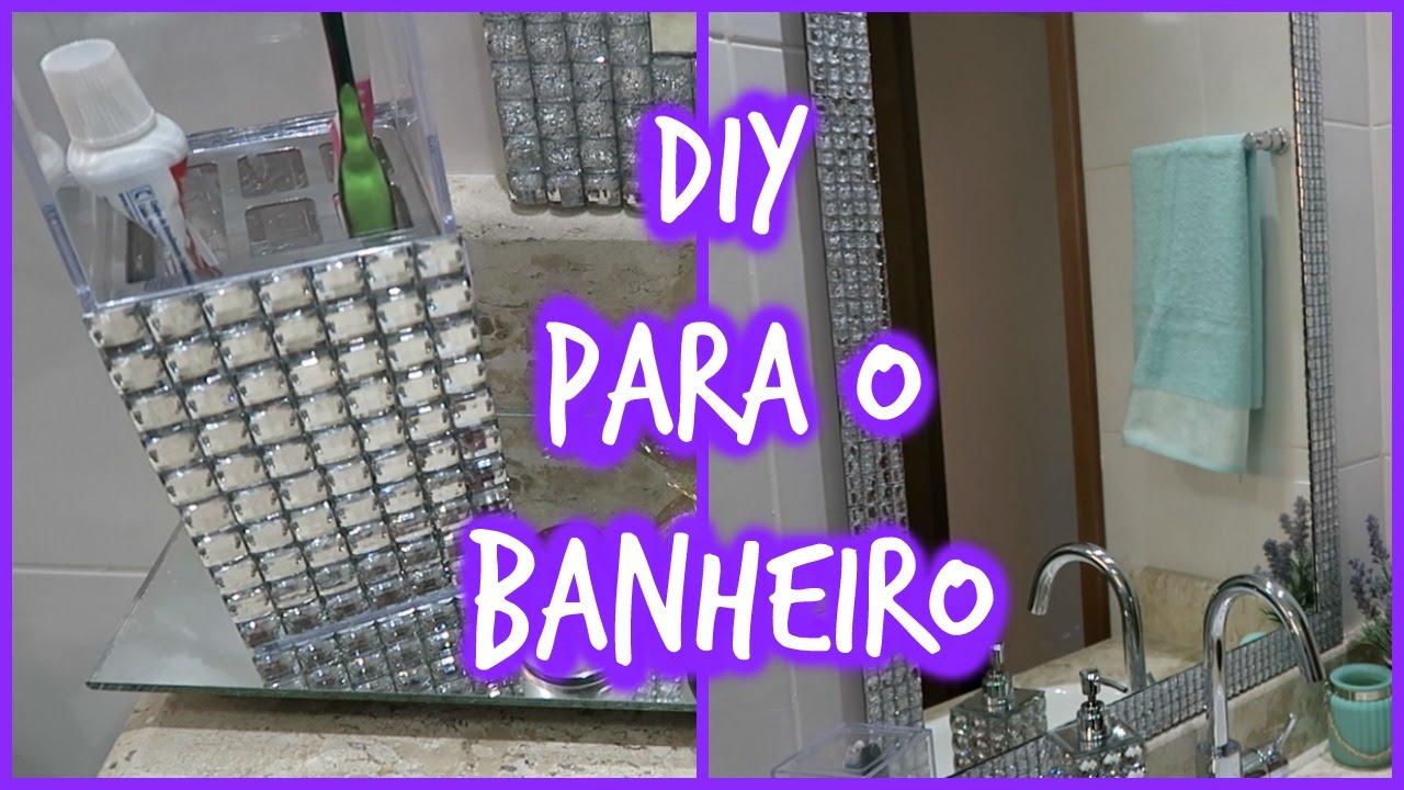 DIYDecoração para o banheiro  YouTube -> Decoracao Banheiro Diy