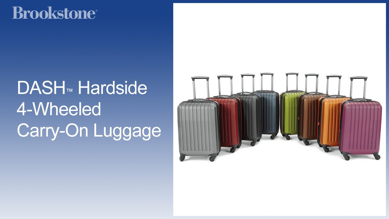 DASH™ Hardside 4-Wheeled Carry-On Luggage - YouTube