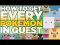 How to Get EVERY POKEMON in Pokemon Quest - Recipe Calling List | Austin John Plays
