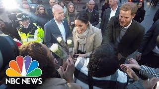 Cheering Crowd Welcomes Prince Harry And Meghan Markle To Brixton   NBC News