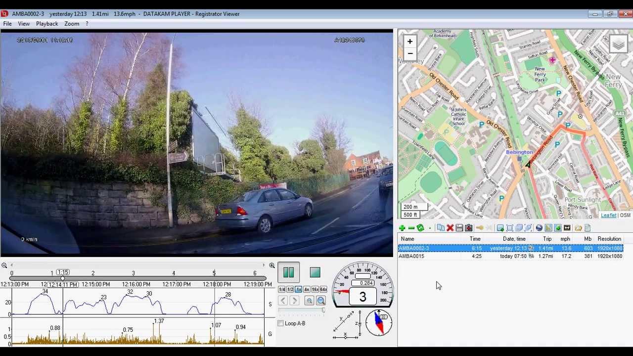 Gps Car Tracker >> GS9000 car cam, dashcam with GPS, software demo - excellent camera & software - YouTube