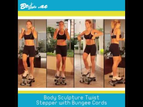 b431121ce48 Body Sculpture Twist Stepper with Bungee Cords - YouTube