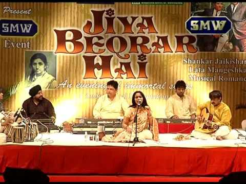 Jiya Beqarar Hai ---Lata- Shanker  Jaikishan live