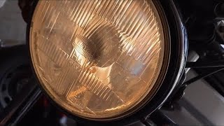 How to replace your motorcycle front headlights bulbs (H4) Suzuki Swift Suzuki GS500 E DIY