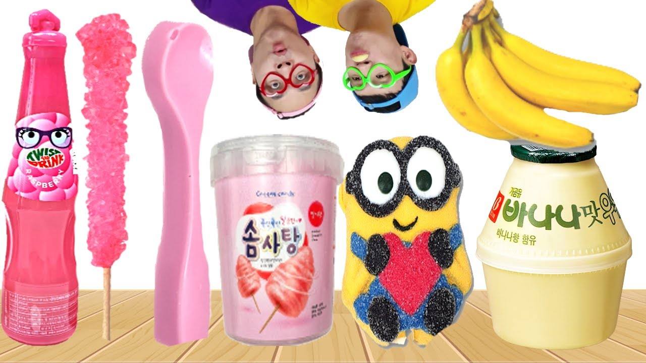 Pink & Yellow food 핑크색 노란색 음식 Mukbang Ollie 올리 먹방