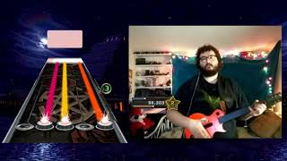 [ASMR] Playing Guitar Hero with NO Music (no talking) (rhythmic clicking/button presses)