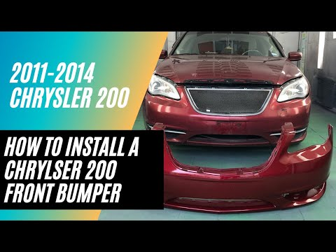 Learn how to install a 2011-2014 Chrysler 200 front bumper cover