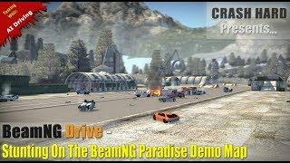 BeamNG Drive - Stunting On The BeamNG Paradise Demo Map