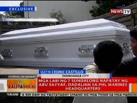 BT: Labi ng 7 sundalong napatay ng Abu Sayyaf sa Zamboanga, dadalhin sa PHL Marines Headquarters