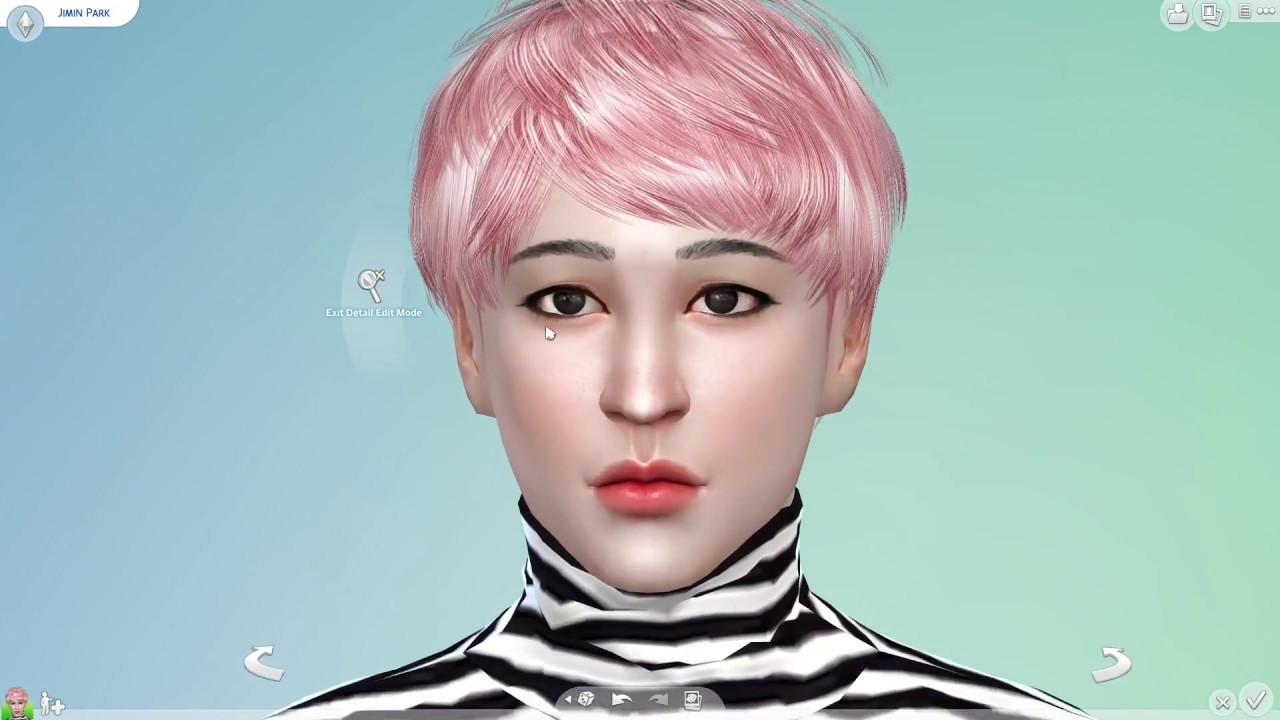 The Sims 4 : CAS BTS Park Jimin YouTube