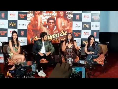 """pati-patni-aur-woh""-star-cast-interacts-with-media-at-song-launch-|-kartik-aryan"