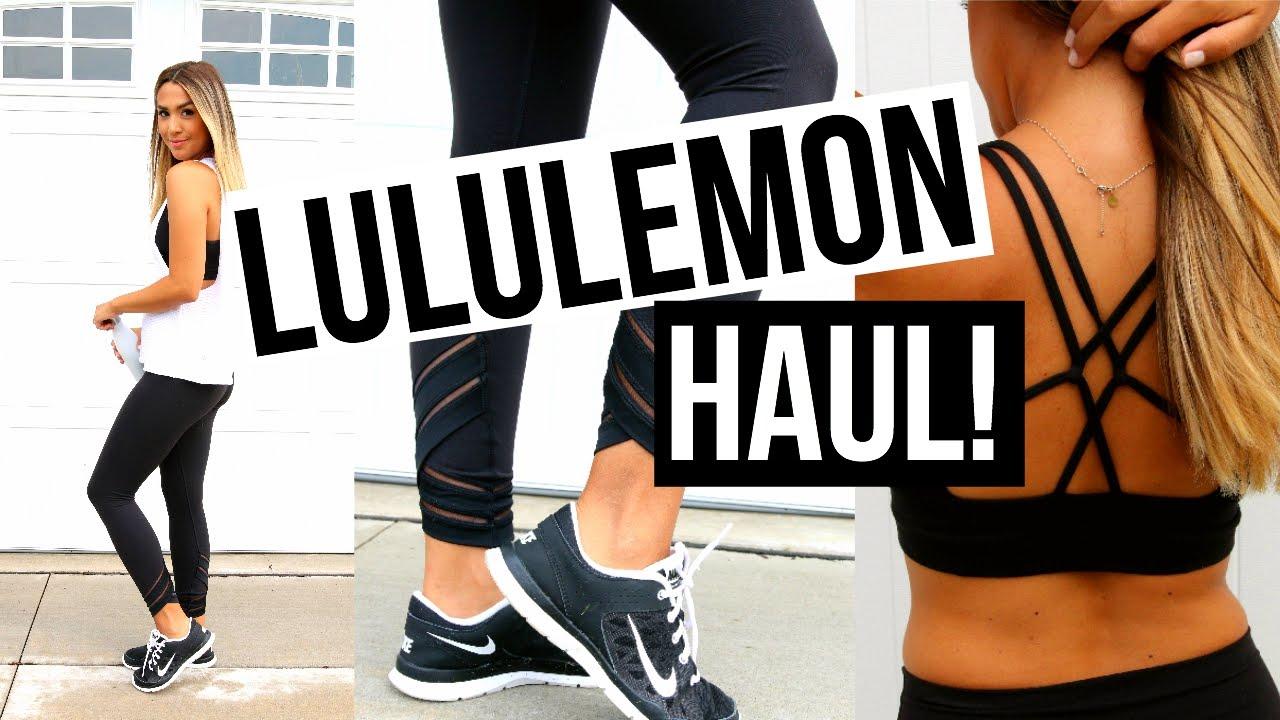 361b95f7637 FITNESS CLOTHING TRY ON HAUL! Lululemon! - YouTube