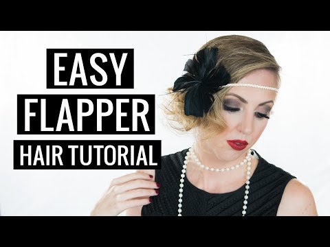 Easy Halloween Hair Tutorial 1920s Flapper Youtube
