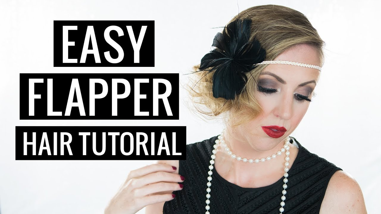 Easy Halloween Hair Tutorial 1920s Flapper Youtube