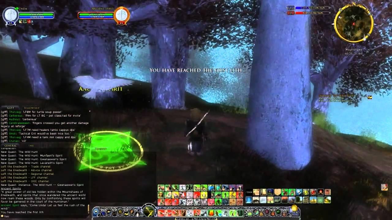 Unda the Hobbit Hunter - Level 65 - The Wild Hunt Part 1 - Gwenaewen's Spirit
