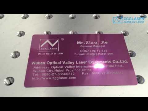 Fiber laser marking on metal