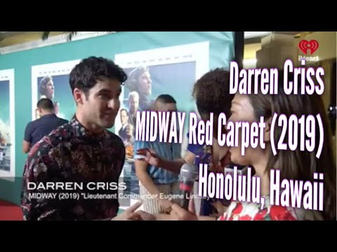 Kathy With a K - Darren Criss at MIDWAY Red Carpet - I was way happy to say *cello!* (VIDEO)
