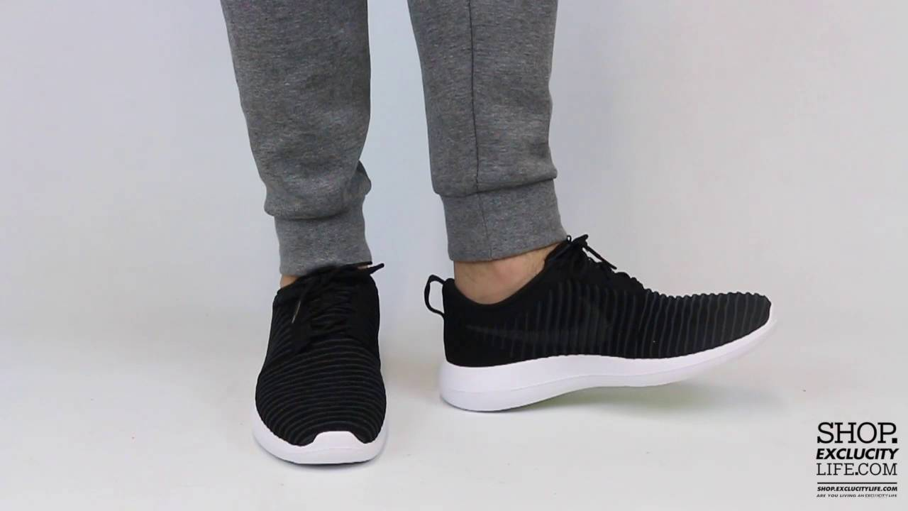 29dd077e0a88 Roshe Two Flyknit Black Anthracite On feet Video at Exclucity - YouTube