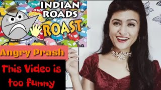 Angry Prash -  This is Indian Road l Pahadigirl reaction angry Prash