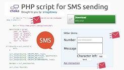 PHP script for SMS sending