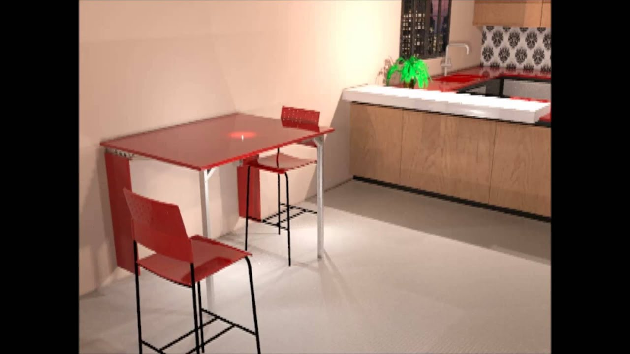 M7 pa mesa abatible de cocina youtube - Mesas de pared ...