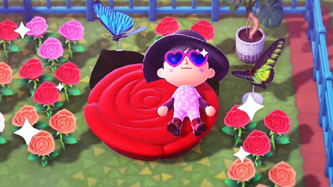 Creating A Beautiful Outdoor Garden Lounge In Animal Crossing New Horizons Youtube