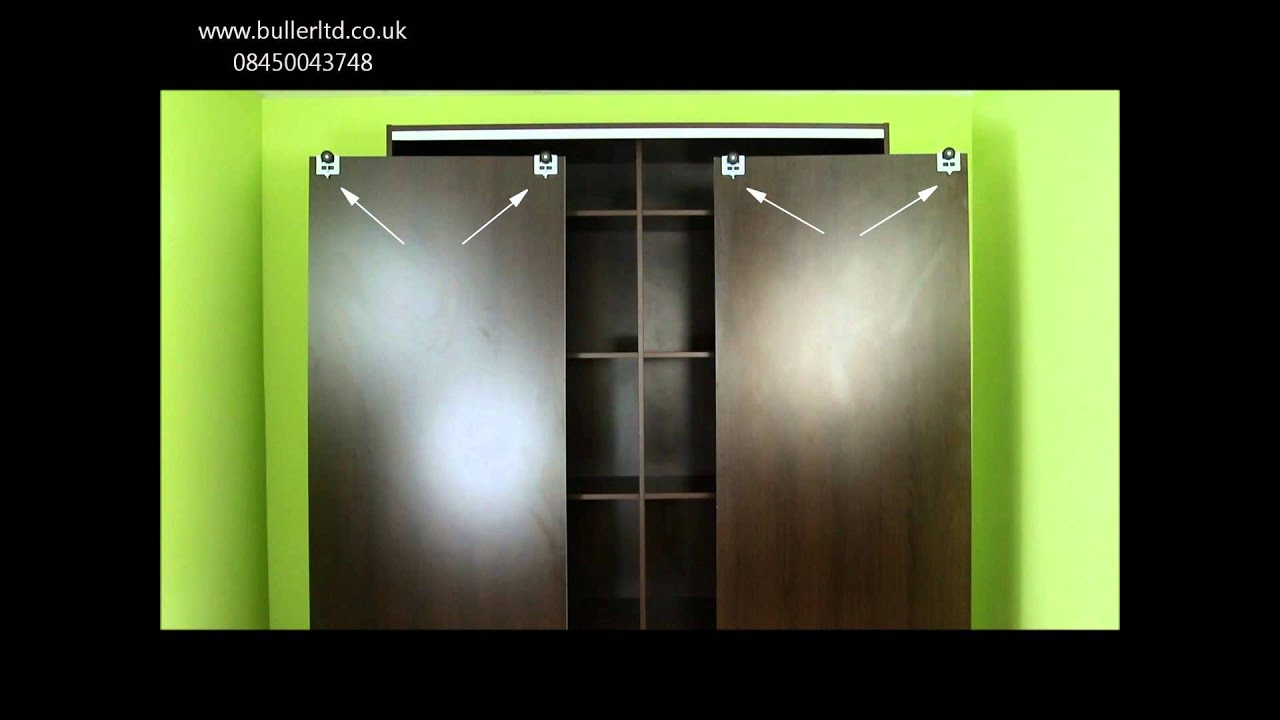 A3 Sliding Door Gear Wardrobe Track Kit With Profile Handles Spring