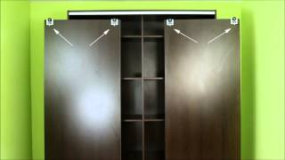 A3 Sliding Door Gear Wardrobe Track Kit with profile handles spring loaded