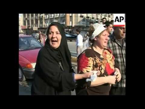 11 killed in triple blasts in Baghdad, scene, Sunni demo