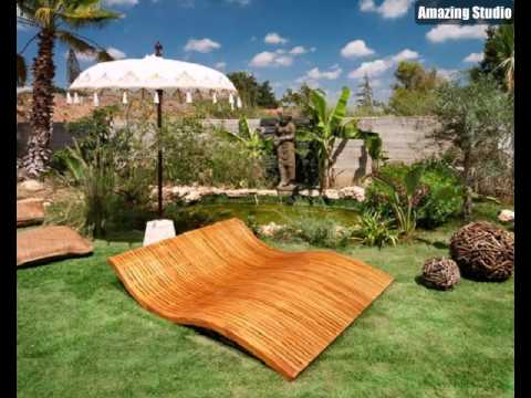 lounge m bel outdoor liegest hle aus holz youtube. Black Bedroom Furniture Sets. Home Design Ideas