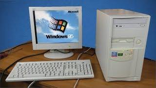 """""""Новый"""" комп на Windows 95 за 500 рублей - первое включение"""