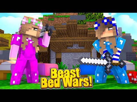 CRUSHING LITTLE KELLY AT BED WARS?! (Little Carly Minecraft).