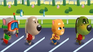 Talking Tom Gold Run Android Gameplay - Zombie Ben vs Splashy Tom, Talking Ginger and Talking Ben