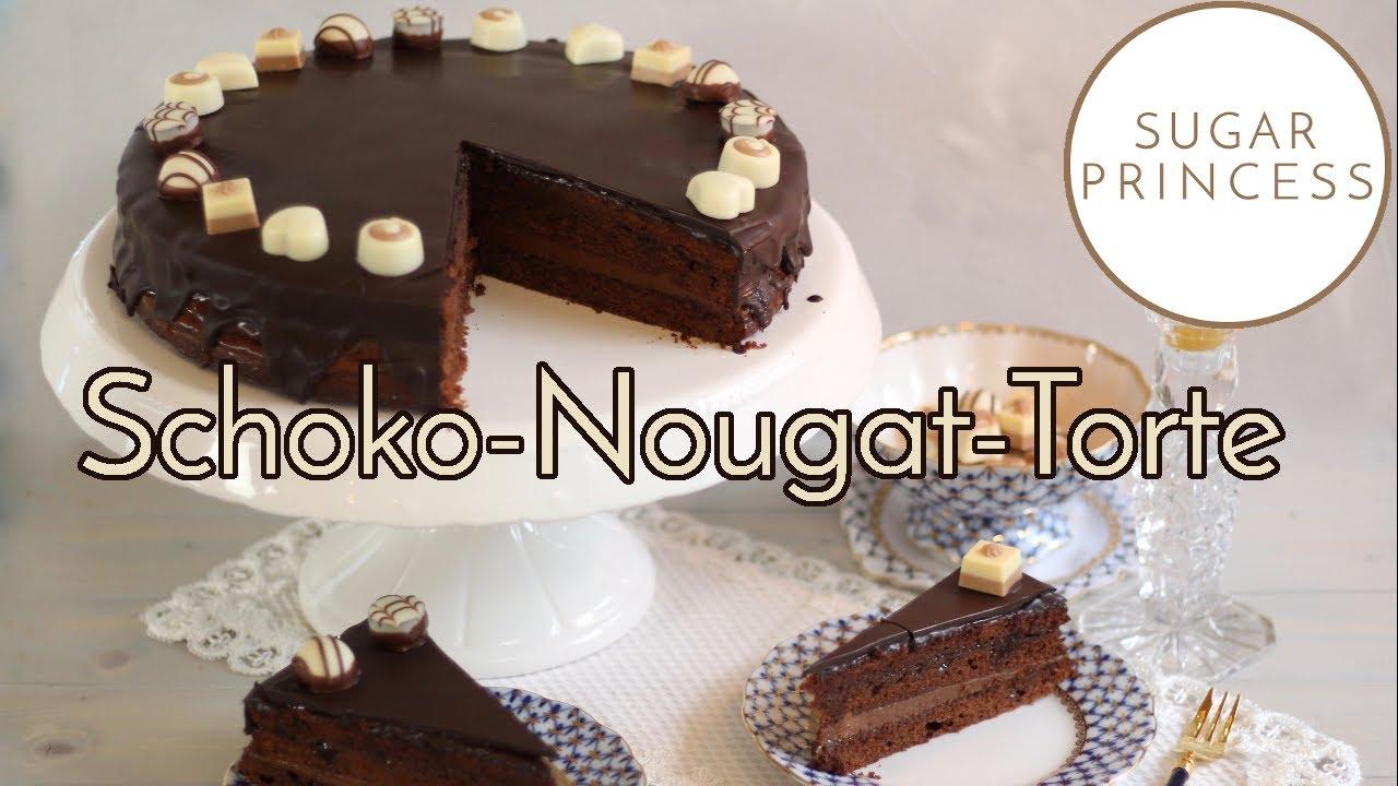 MEGA LECKERE SCHOKO-NOUGAT-TORTE/ Wiener Kaffeehaus Torte | Rezept mit Gewinnspiel von Sugarprincess