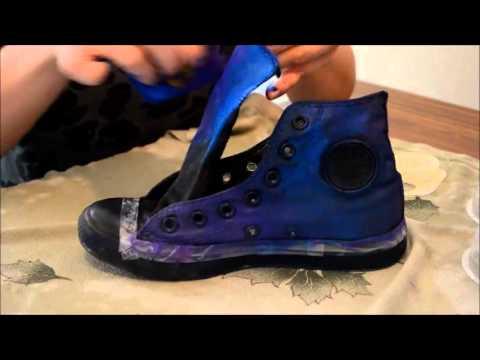 0c6a40d3d899 DIY Galaxy Shoes   Converse - YouTube