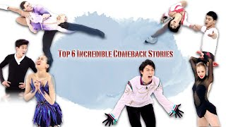 Top 6 Incredible Comeback Stories on ice Figure Skating ft Quad jump history in pairs