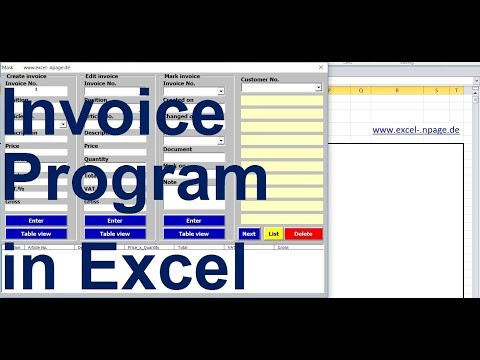 0 Create an invoice program with customer database and product range in Excel VBA itself