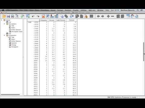 Generating Descriptive Statistics with SPSS