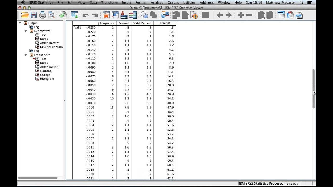 How to Run and Interpret Descriptive Statistics in SPSS
