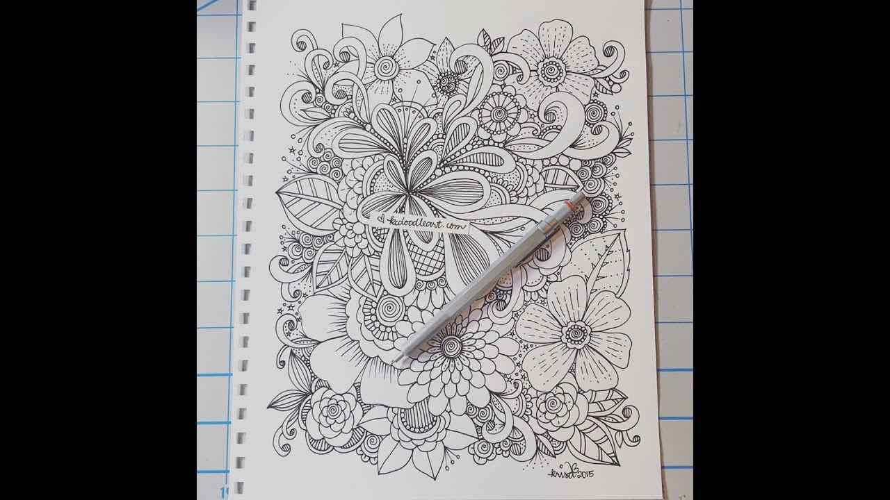 Flower doodle design youtube - Doodle dessin ...